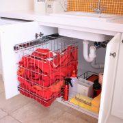 Bottom Mount Laundry Basket Laundry Cabinet
