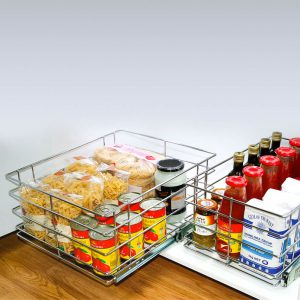 Bottom Mount Baskets Wire Drawers Storage