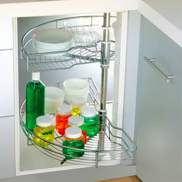 Lazy Susan Half Wire Corner Cabinet