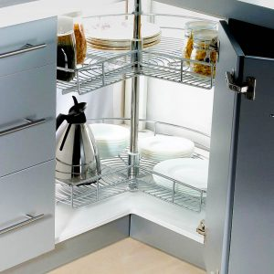 Three Quarter Lazy Susan Wire Corner Cabinet
