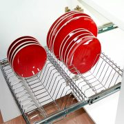 Pull Out Kitchen Plate Rack