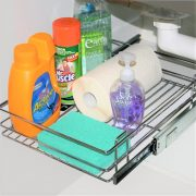 Bottom Mount Basket Under Sink Shelf
