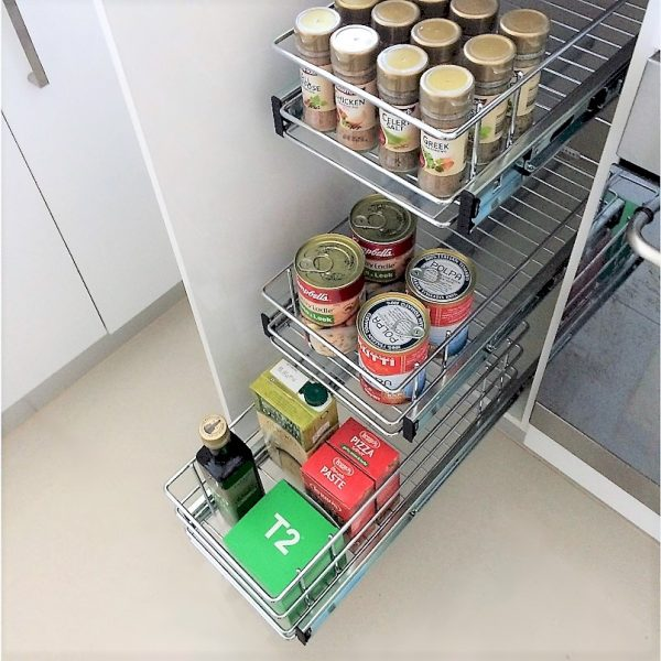 Individual Baskets Narrow Kitchen Cupboard
