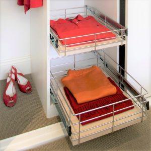 Wardrobe Baskets Bedroom Storage