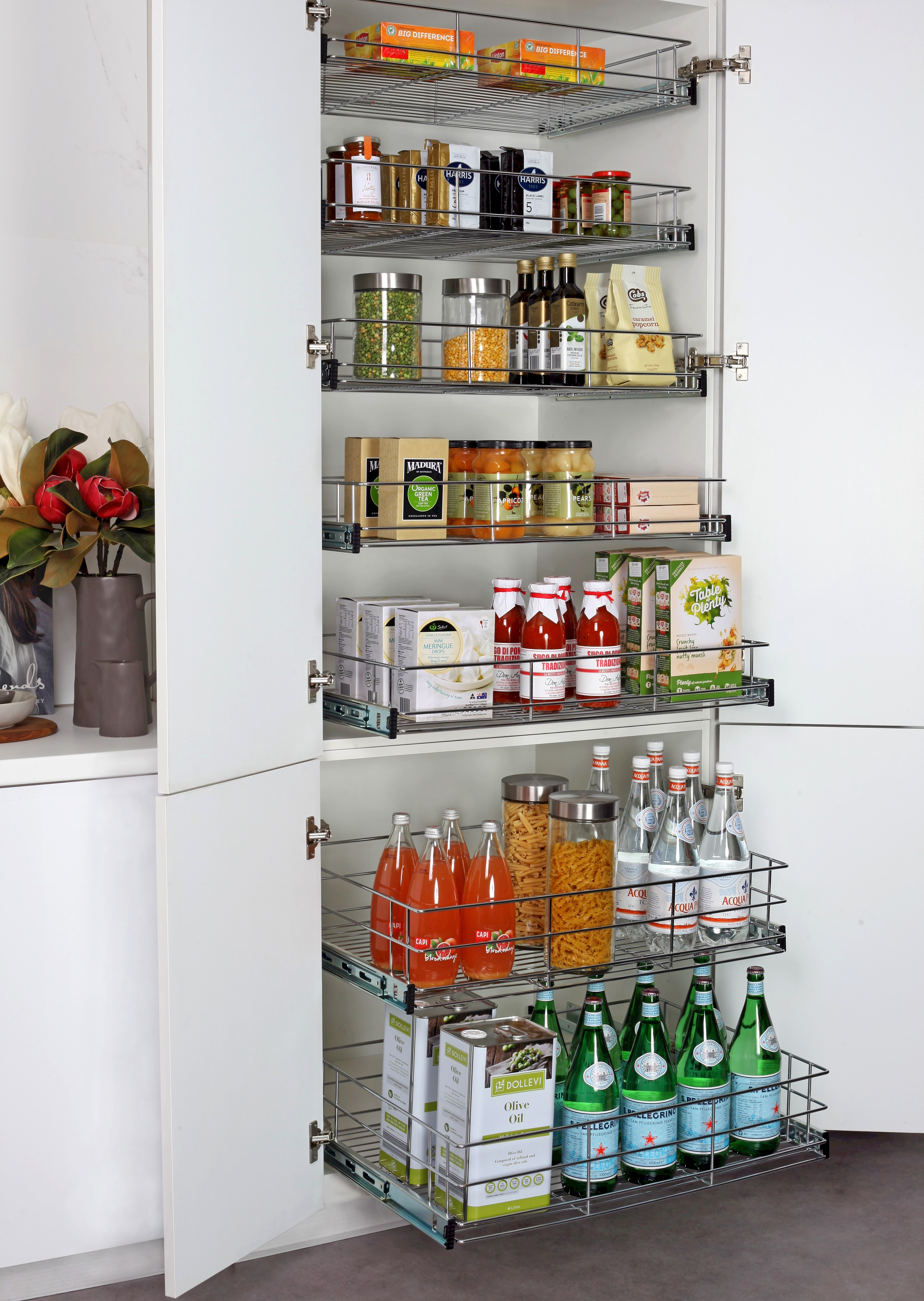 Pull Out Pantry For New And Existing Kitchen Cabinets Tansel