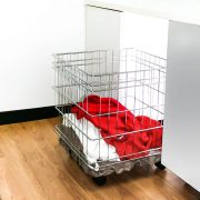 Laundry Basket Castors Clothes Basket