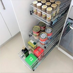 Individual Baskets Narrow Kitchen Cupboard